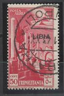 Italia - Libia - 1937 - Usato/used - Airmail - Overprint - Sass N. 28 - Libië