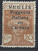 Italia - Veglia - 1920 - Nuovo/new MNH - Overprint - Sass N. 7 - Arbe & Veglia