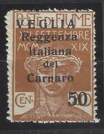 Italia - Veglia - 1920 - Nuovo/new MNH - Overprint - Sass N. 9 - Arbe & Veglia