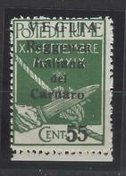 Italia - Veglia - 1920 - Nuovo/new MNH - Overprint - Sass N. 10 - Arbe & Veglia