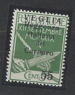 Italia - Veglia - 1920 - Nuovo/new MNH - Overprint - Sass N. 11 - Arbe & Veglia