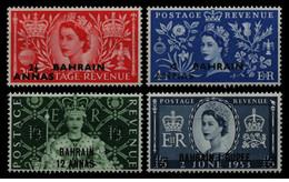 Bahrain - 1953 - Nuovo/new MNH - Overprint - Mi N. 89/92 - Bahreïn (...-1965)