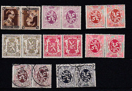 Be0095 Paires Timbres Têtes Beches 8 Exemplaires 5 N 3 (O) - Unused Stamps