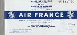 V12 65Sb   Aviation Air France Billet D'avion Pointe Noire à Brazzaville En 1959 - Other