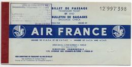 V12 65Sb   Aviation Air France Billet D'avion De Brazzaville à Fort Lamy à Largeau à Fort Lamy à Marseille En 1959 - Other