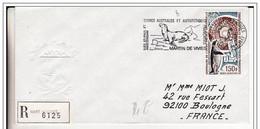 Pli Recommandé  TAA F Martin De Viviès  08 04 1975. - Covers & Documents