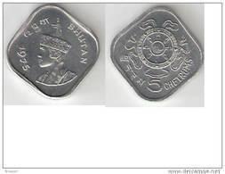 Bhutan 5 Chetrums 1975 Km 37    Unc  !!!!!!!! - Bhutan