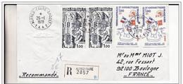 Pli Recommandé  TAAF Alfred Faure Crozet 26 01 1978. - Covers & Documents