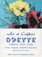 V12 65Sb   Calendrier Poche N°2 De 1963 Art Et Coiffure Odette 9 Rue Magaud Quartier Samatan Marseille - Small : 1961-70