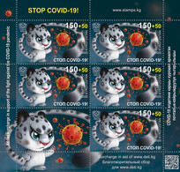 KYRGYZSTAN 2020 KEP 164L STOP COVID-19 - Mint Minisheet - Only 1000 Issued - Kyrgyzstan