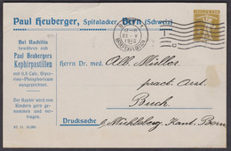 PAUL HEUBERGER PASTILLEN  /  2 RP GANZSACHE (SELTENER - HAEUFIG IST 5RP)  /  22.V.1912 - Stamped Stationery