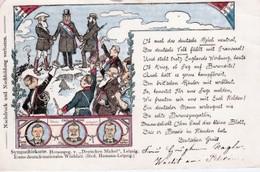 """MESSAGE.   AU. PRÉSIDENT   PAUL  KRÜGER   DU. """"  DEUTTSCHEN. MICHEL. """"  CPA  ( 20 / 12 /  377. ) - Eventi"""