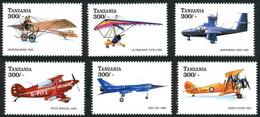 Tanzanie Tanzania 1998 Various Divers Deperdussin Racer, Ultralight, Pitts Special, BAC 221, Avro Tutor - Aerei