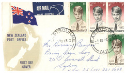(CC 19) New Zealand FDC Cover -  Heatlh Stamps - 1973  (Posted To Australia) - FDC