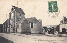 CPA - Burès - La Place Et L'église - Bures Sur Yvette