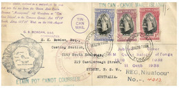 """(CC 19) Kingdom Of Tonga FDC """" Tin Can Mail """" Cover Posted To Australia - 1939 - With Queen Salote - Tonga (...-1970)"""