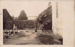 ZELL Am SEE TO ALOIS ZOBERNIG IN SALZBURG AUSTRIA~CHILDREN-CHICKENS-FIREWOOD~1928 REAL PHOTO POSTCARD 50921 - Other