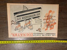 Publicité Les Amis De Tintin Harmonica Lignaton - Collections