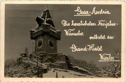 Graz/Steiermark - Graz,   Neujahrswünsche Aus Dem Grand-hotel Wiesler - Graz