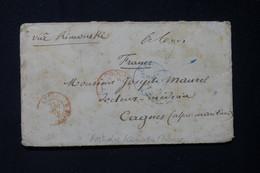 """AUSTRALIE - Enveloppe De Sydney Pour La France En 1879 Via Londres Avec Mention """" Via Rimouski """" ( Canada ) - L 83400 - Briefe U. Dokumente"""