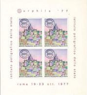 """(Fb).Italia.1977. """"Eurphila 77"""" Foglietto Erinnofilo (413-16) - 1971-80:  Nuevos"""