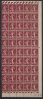 France - 1924-26 - N°Yv. 189 - Semeuse 15c - Bloc De 50 Bord De Feuille - Neuf Luxe ** / MNH / Postfrisch - Unused Stamps