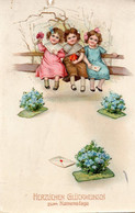 DC5150 - Ak Schöne Motivkarte Glückwunsch Zum Namenstage - Grupo De Niños Y Familias