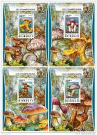 DJIBOUTI 2016 ** Mushrooms Pilze Champignons 4S/S - OFFICIAL ISSUE - DH1721 - Paddestoelen
