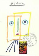 1884 - LA COMMUNICATION, 1er Jour 12-6-76, PARIS Tableau PICASSO LA MUSE 1960 - 1970-79