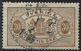 Schweden Dienstmarken 1874, MiNr 9 Ba, Gestempelt - Officials