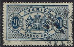 Schweden Dienstmarken 1891, MiNr 15, Gestempelt - Officials