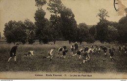 Lisieux Ecole Fournet N°11 Le Jeu De Football CPA 14 Calvados - Lisieux