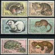 CZECH. 1967 - Scott# 1497-502 Animals Set Of 6 MNH Back Thin - Unused Stamps