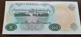 Banque Nationale Du Congo - 5 Zaires Ou 500 Makuta 1967 - Republik Kongo (Kongo-Brazzaville)