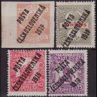 CZECHOSLOVAKIA 1919 - Scott# B98-101 Overprinted 2-15f LH - Nuevos