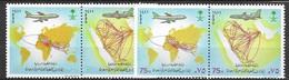 Saudi Arabia  Complete Set Mnh ** 1990 Two Pairs 6 Euros - Arabia Saudita