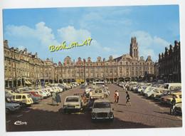 {84390} 62 Pas De Calais Arras , Place Des Héros ; Animée , Citroën Ami6 2cv , Renault 16 4L - Arras