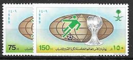Saudi Arabia  Complete Set Mnh ** 1989 6 Euros Football - Arabia Saudita