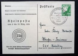 """DR Privatpostkarte PP 142 C28 Mit Sonderstempel """"Rheinposta"""" (1476) - Postwaardestukken"""