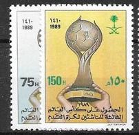 Saudi Arabia  Complete Set Mnh ** 1989 4 Euros Football - Arabia Saudita