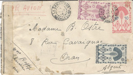 1944- Enveloppe PAR AVION  Affr. 10,50 F Oblit. LA SAKAHARA  Pour Oran ( Algérie ) Contrôle Militaire - Brieven En Documenten
