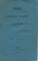 LIVRET ESSAI SUR LE COMMUNISME DE 1848 - Andere