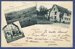 CPA DOS NON DIVISE BAS-RHIN (67) - SOULTZ-LES-BAINS - GRUSS AUS SULZBAD - VILLA LOUIS - SEBASTIEN JAERG, WEINSTICHER - Other Municipalities
