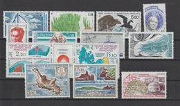 TAAF Année Complète 1988 130-137,139A Et PA 100-102 ** MNH - Komplette Jahrgänge