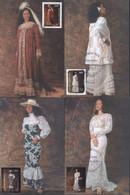 Cartes Maximum Robes Traditionnelles YT 619 à 622 CAD Illustré Papeete 21 JUIN 2000 Premier Jour FDC Polynésie Française - Tarjetas – Máxima