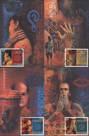 Cartes Maximum Polynésie Française 1er Festival International Tatouage Polynésie RAIATEA YT 614 à 617 Papeete 28 4 2000 - Tarjetas – Máxima