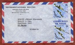 Luftpost, Saegefisch, San Salvador Nach Mainz 1972 (2641) - El Salvador