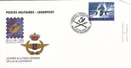 B01-249 2810 FDC Postes Militaires Belgique Enveloppe 50 Ans OTAN NAVO Force Aérienne 10-06-2001 Bruxelles 1020 Brussel - 1991-00