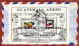 Luftpost, Block UPU U.a., Guatemala Nach Mainz 1974 (2646) - Guatemala