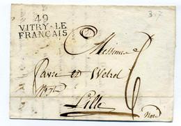 49 VITRY LE FRANCAIS / Dept  De La Marne / 1821 - 1801-1848: Voorlopers XIX